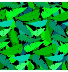 Grunge pattern with fern leafs vector image vector image
