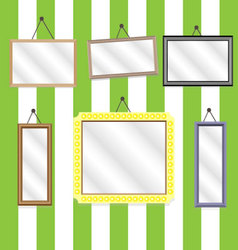 Set picture frames vector image vector image