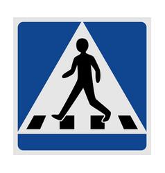 traffic sign pedestrian crossing vector image