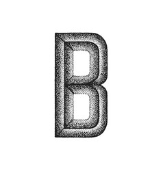 vintage hand drawn letter vector image