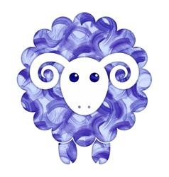 Watercolor cute Sheep vector image
