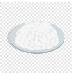bowl of rice isometric icon vector image