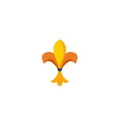 flat icon fleur de lis element vector image