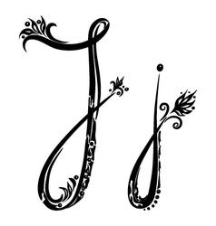 letter J j vector image