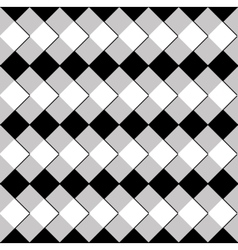 pattern of black white and gray rhombus vector image vector image
