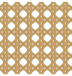 seamless wicker woven texture background vector image vector image