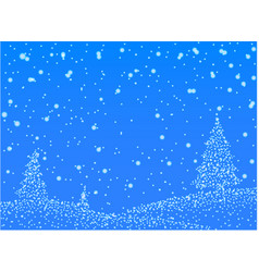 Abstrack winter snow on blue background - vector