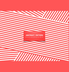 Abstract living coral color line modern vector
