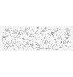 angels wings and halo doodle set vector image