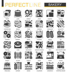 bakery and pastry classic black mini vector image