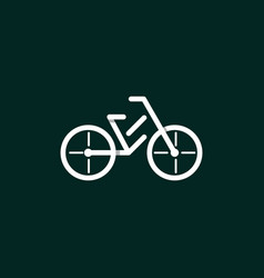 Bicycle outline equipment modern logo vector