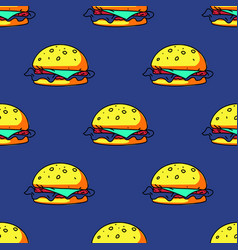Big burger seamless pattern vector
