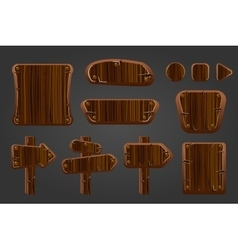 Big set of wooden boards vector image