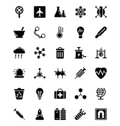 Biohazard glyph icons vector