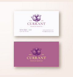 black currant abstract logo and business vector image