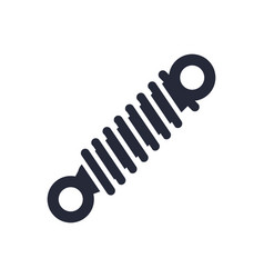 Car shock absorber assembly piece flat icon vector