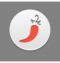 Chili pepper icon vegetable vector
