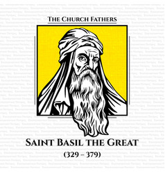 Church fathers saint basil great vector