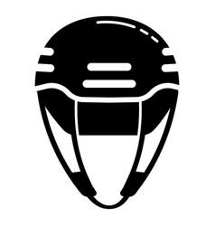climbing helmet icon simple style vector image