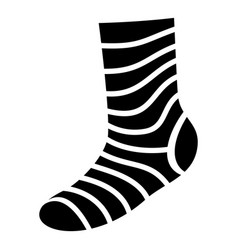 cute fashion sock icon simple style vector image