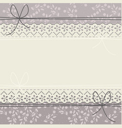decorative lace frame with stylish flowers vector image