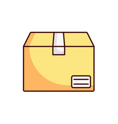 delivery box icon package vector image