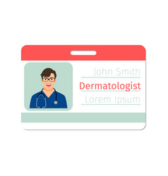 Dermatologist medical specialist badge vector