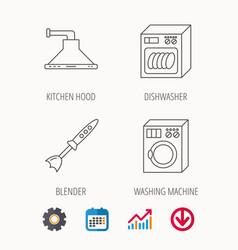 Dishwasher washing machine and blender vector