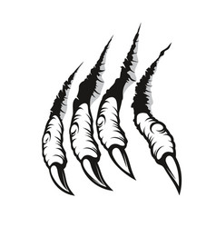 Dragon claw marks monster fingers with long nails vector