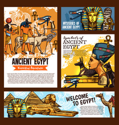 egypt ancient culture symbols cairo travel tours vector image