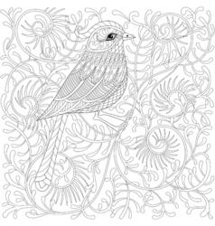 Entangle bird cartoon exotic and tropical vector
