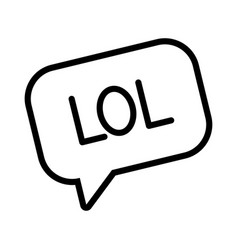 Expression bubble with lol word line style vector