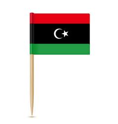 Flag libya toothpick on white background vector