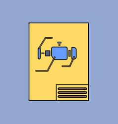 Flat icon design collection motor circuit vector