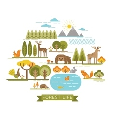 forest life vector image