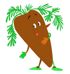 funny carrot vector image