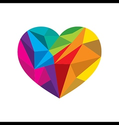 gcreative colorful valentines crystal heart shape vector image