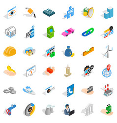 gear icons set isometric style vector image