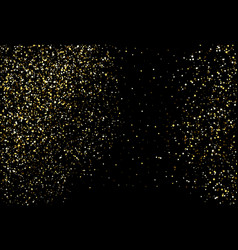 Golden dots on black background vector