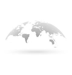 grey world map globe isolated on white background vector image