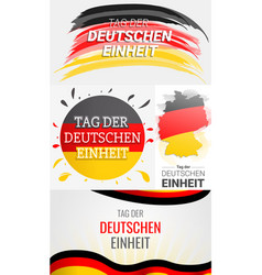 happy deutschen einheit banner set hand drawn vector image