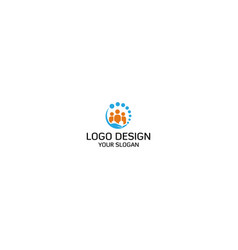 help staff logo design vector image