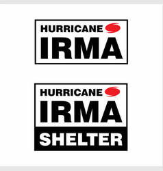 hurricane irma shelter box sticker or stamp vector image