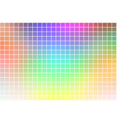 Light rainbow square mosaic background over white vector