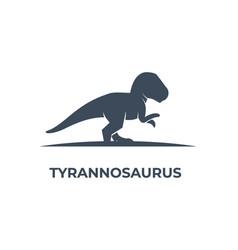 logo tyrannosaurus silhouette style vector image