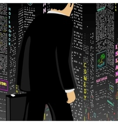 Man In The Big City vector image vector image