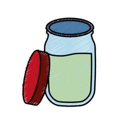 Marmalade bottle icon vector