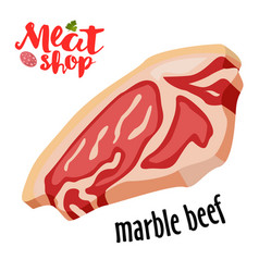 meat - marble beef icon fresh meat icon vector image