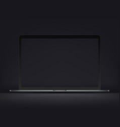 modern premium laptop mockup on dark background vector image