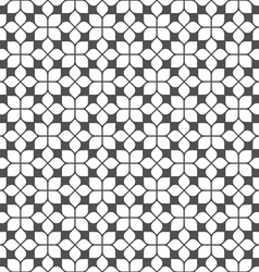 Monochrome seamless flower pattern in oriental vector image
